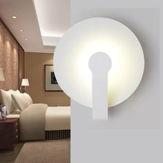 68.00$  Buy here - http://alivhx.worldwells.pw/go.php?t=32612276484 - Simple Modern LED Wall Light Fixtures For Home Lighting Fashion Creative Circle Wall Sconce Bedside wall Lamps Lampara Pared 68.00$