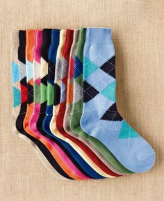 So I own a few pairs of argyle socks ... there are more expensive addictions! :)