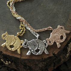 Gold, silver and bronze elephants everything is better in three