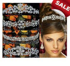 15%-20% Rabatt 12 Modelle Diadem,Tiara Hochzeit Kommunion Krone Haarkamm Braut