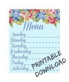 So perfect! Could frame and use as a dry-erase menu! #printable #art #decor #kitchen #menu #organized #dryerase #DIY