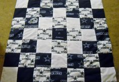 Handmade Dallas Cowboys Baby Quilt by OzarkMountainQuilts on Etsy