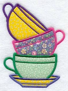 Machine Embroidery Designs at Embroidery Library! - Color Change - -- did this on tea towels - fun Would look really cute on a tea towel with chevron designsEmbroidery Flower Template Embroidery Designs To BuyEmbroidery Designs For Hats Embroidery Pattern Machine Embroidery Applique, Learn Embroidery, Crewel Embroidery, Hand Embroidery Patterns, Applique Quilts, Quilt Patterns, Embroidery Patches, Embroidery Kits, Kurti Embroidery