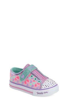 SKECHERS 'Twinkle Toes - Shuffles Shimmer Pop' Light-Up Sneaker (Walker & Toddler) available at #Nordstrom
