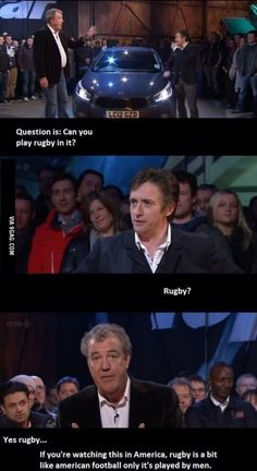 Funny pictures about Truth About Rugby. Oh, and cool pics about Truth About Rugby. Also, Truth About Rugby photos. Top Gear Funny, The Funny, Daily Funny, Rugby Memes, Rugby Funny, Top Gear Bbc, British Humor, Just For Laughs, Best Funny Pictures