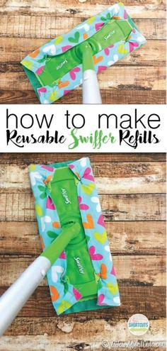 Ne gaspillez pas votre argent sur ces recharges coûteuses Swiffer. Apprenez à créer vos propres recharges réutilisables Swiffer! Super simple projet de couture!