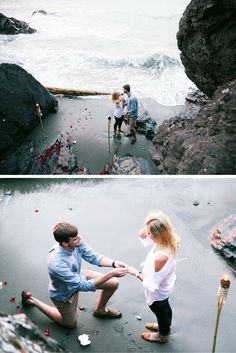 He asked her to marry him on the beach at sunset, and it's crazy romantic. The full story will have you in tears!