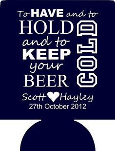 Lot 12 personalized wedding koozies custom by odysseycustomdesigns, $29.99
