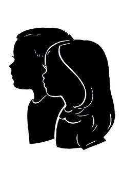 Silhouettes of children: I really want to have this done. These are so beautiful.