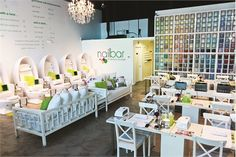 Egg-shaped pedicure stations offer customers luxury salon services.
