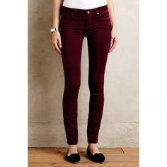 Paige Verdugo Skinny Jeans ($189) ❤ liked on Polyvore featuring jeans, sweet wine, paige denim, super skinny jeans, paige denim jeans, skinny fit jeans and skinny leg jeans