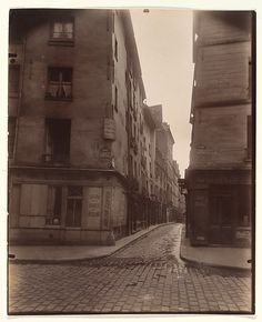 Eugène Atget (French, 1857–1927). Rue Laplace and Rue Valette, Paris, 1926. The Metropolitan Museum of Art, New York. The Elisha Whittelsey Collection, The Elisha Whittelsey Fund, by exchange, 1970 (1970.594.2)