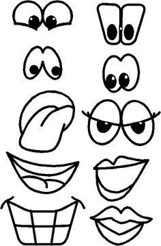 See 7 Best Images of Printable Patterns Eyes. Printable Monster Eye Templates Free Printable Eyes My Little Pony Eye Pattern Printable Eyes Nose Mouth Templates Free Halloween Cartoon Eyes, Cartoon Drawings, Easy Drawings, Crafts To Make, Fun Crafts, Crafts For Kids, Paper Crafts, Face Cut Out, Face Template