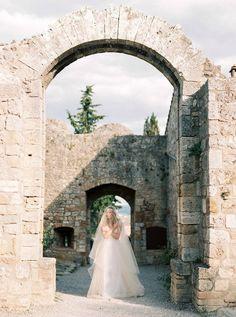 Tuscany Wedding Inspiration { Elegantly ethereal style wedding dress }|  Fab Mood - UK Wedding Blog