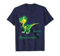 Roaring Kindergarten Dinosaur T-Rex Back to School Shirt Boy School Shirts, T Rex, Back To School, Kindergarten, Amazon, Boys, Mens Tops, T Shirt, Tee