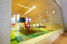 colourful conference rooms - new carpet (Flor) for the 2 small offices?