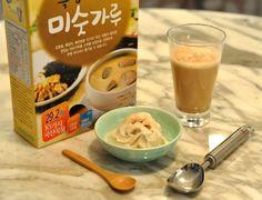 Misutgaru Ice Cream Recipe JenCooksKorean Misugaru Latte Recipe 미숫가루 아이스크림 조리법