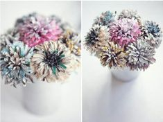 Give stunning paper bouquets.   27 Cheap And Easy Gifts To Make With Kiddos