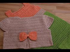 Bolero Crochet de 4 a 5 años paso a paso