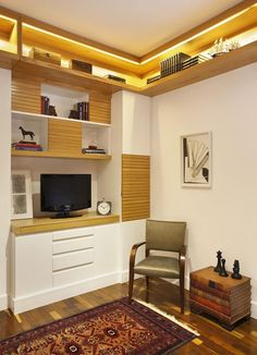 Elegância e um toque clássico no Home Office assinado por RBP Arquitetura e…