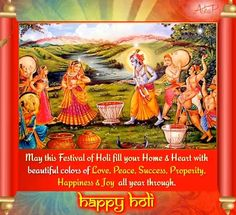 Send colorful Holi wishes to everyone with this lovely greeting/ ecard. Free online Colorful Holi Wishes & Greetings ecards on Holi Holi Festival Of Colours, Holi Colors, Wishes For Friends, Friends In Love, 123 Cards, Holi Wishes, Festivals Of India, Happy Holi, Online Coloring