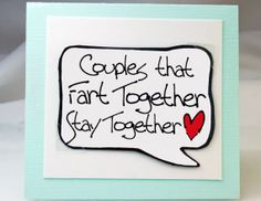 Funny Card for Couples. Fart Card. Funny by katndrewcards on Etsy, $3.25