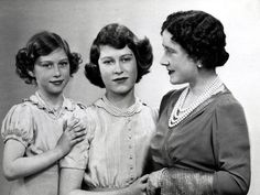 I love the Monarchy:  Princesses Margaret and Elizabeth with Queen Elizabeth (the Queen Mother)