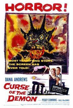 CURSE OF THE DEMON Movie POSTER 27x40 Dana Andrews Peggy Cummins Niall MacGinnis