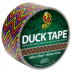 Printed Duck Tape® - Scary Chevron http://duckbrand.com/products/duck-tape?utm_campaign=color-duck-tape-general&utm_medium=social&utm_source=pinterest.com&utm_content=printed-duct-tape