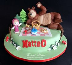Masha and the Bear cake - Cake by Clara