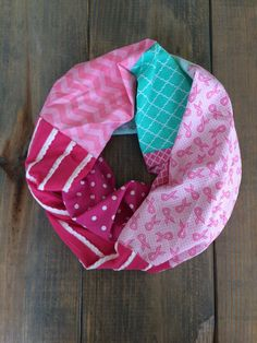 Breast Cancer Pink Infinity Scarf by KutKloth on Etsy