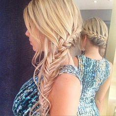 Side braid mehr 25 gorgeous wedding hairstyles for long hair Summer Hairstyles, Up Hairstyles, Pretty Hairstyles, Braided Hairstyles, Wedding Hairstyles, Bridesmaid Hair, Prom Hair, Long Curly Hair, Curly Hair Styles
