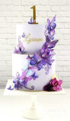 Stunning butterfly cake