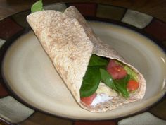 clean eating Spinach Guacamole Chicken Wrap recipe