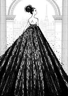 Megan Hess' Paris-inspired fashion illustrations - The Interiors Addict Fashion Design Drawings, Fashion Sketches, Fashion Art, Trendy Fashion, Boho Fashion, Megan Hess Illustration, Fashion Illustration Vintage, Fashion Illustrations, Kerrie Hess