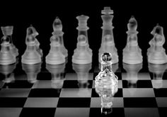 I do so love the elegance of translucent chess pieces.