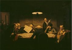 Polyster Canvas ,the Best Price Art Decorative Prints On Canvas Of Oil Painting 'Johann Peter Hasenclever - The Reading Room,1843', 30x43 Inch / 76x110 Cm Is Best For Home Theater Decoration And Home Decoration And Gifts -- Check out the image by visiting the link.