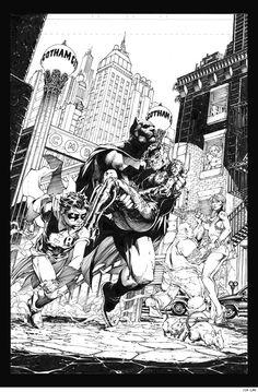 All Star Batman And Robin by Frank Miller, Jim Lee and Scott Williams Catwoman Y Batman, Im Batman, Batman Art, Superman, Batman Robin, Batgirl, Comic Book Artists, Comic Artist, Comic Books Art
