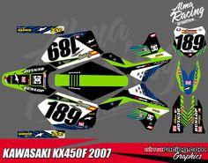 Kawasaki KX450F graphics year 2007 - 2008