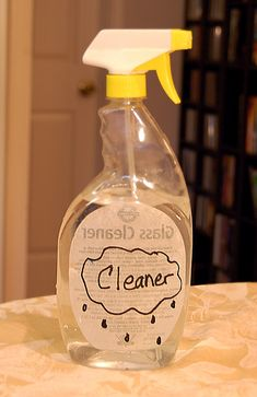 HOMEMADE CLEANER:    Ingredients:    1 c ammonia  1/2 c white vinegar  1 gallon warm water  1/4 c baking soda  Directions: Mix together in a bucket until everything is dissolved. Pour into a spray bottle.  Cost: Vinegar: $.12; Water: free; Ammonia: $.12; Baking Soda: $.25.  Total Cost: $.50 per two bottles of cleaner, or $.25 per bottle of cleaner