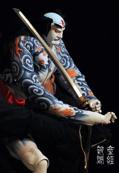 The Bunraku puppets are works of art.  Japanese traditional puppet theater, Bunraku 文楽