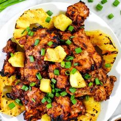 This Paleo grilled pineapple chicken has a smoky barbecue flavor, with a hint of sweetness and juicy grilled pineapple for a healthy summer dinner! Easy Paleo Dinner Recipes, Healthy Diet Recipes, Clean Eating Recipes, Healthy Eating, Cooking Recipes, Real Simple Recipes, Paleo Crockpot Recipes, Clean Eating Chicken, Paleo Chicken Recipes