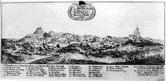 Вигляд Львова у 1772 р. Літографія за рисунком д'Отто