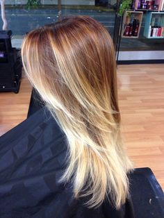 Pumpkin Spice latte. Just kidding, a lovely fall red blonde color melt. By Tracy Fiore  #HairNinjaTracy