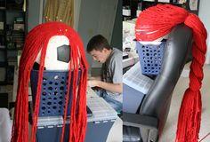 DIY Jessie yarn wig