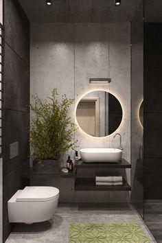 Valaistu pyöreä peili O Led sopii hyvin kylpyhuoneeseen, eteiseen tai vaatehuoneeseen. Peili on erittäin ohut – koko rakenteen paksuus on vain 28 mm. Sen ja himmeän LED-valaistuksen ansiosta peili on kevyt ja ilmava. Helsinki, Bauhaus, Led, Mirror, House, Furniture, Design, Home Decor, Bathrooms