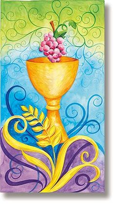 Amazon.com: Stained Glass Chalice Church Banner: Home & Kitchen