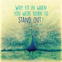 Don't compromise who you are to fit in, or to please someone else. You are always left with you, no matter what. #youbeyou #standout