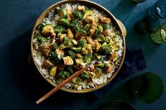 This less-saucy version of curried chicken features nutrient-packed broccoli and zucchini. The spicy curry elevates the go-to stir-fry ingredients to luscious new heights.