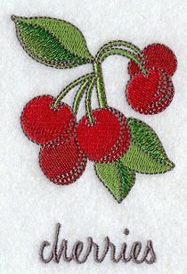 Machine Embroidery Designs at Embroidery Library!  Cherries